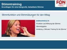 Webinar: Stimmtraining