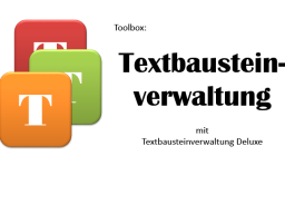 Tooltime |►► Textbausteine mit Deluxe