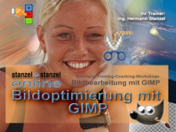 Webinar: Bilder optimieren mit GIMP