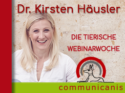 Referentin Dr. Kirsten Häusler > Halsband ? Geschirr ? + Bewegung hält fit, nur welche ? > 2 Webinare 1 Preis