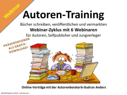 Webinar: Autoren-Training - 6 Webinare für Selbstverleger