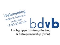 Webinar: Existenzgründung & Entrepreneurship