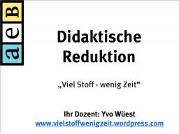 Webinar: Didaktische Reduktion