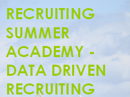 Webinar: RSA Data Driven Recruiting - Active Sourcing
