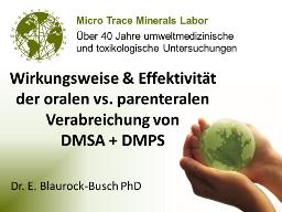 Webinar: Wirkungsweise der oralen vs. parenteralen Verabreichung von DMSA und DMPS