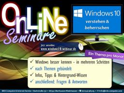 Webinar: Windows 10 verstehen und beherrschen - Startmenü, Start-Bereich + Suchfunktion