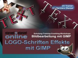 Webinar: LOGO-Schriften Effekte mit GIMP