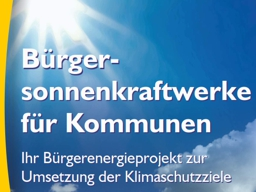 Webinar: Solare Stromproduktion auf öffentlichen Gebäuden - Bürgersonnenkraftwerk als Lösung