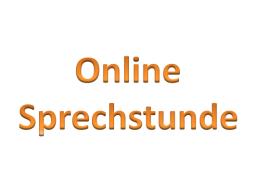 Webinar: Online Sprechstunde
