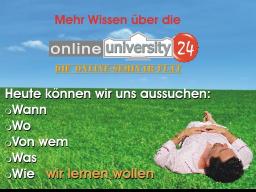 Webinar: Mehr Wissen über die OnlineUniversity24