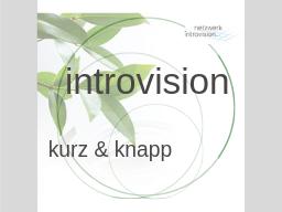 Webinar: Introvision - kurz und knapp. Eine Einführung