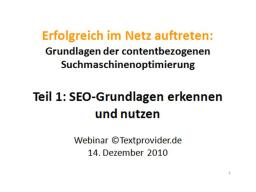 Webinar: Erfolgreich im Netz auftreten