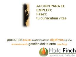 Webinar: ACCIÓN EMPLEO: fase1 tu currículum vitae