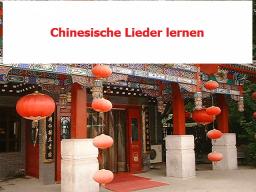 Webinar: Chinesische Lieder lernen