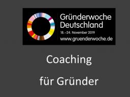 Webinar: Persönliches Coaching im Rahmen der Gründerwoche