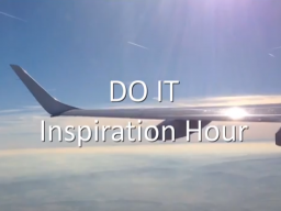 Webinar: DO IT Inspiration Hour