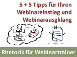 Webinar: 10 Rhetoriktipps für Webinartrainer