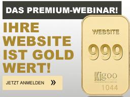 Webinar: Ihre Website ist Gold wert!