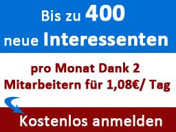 Webinar: Erfahren Sie, wie Sie bis zu 400 neue Interessenten pro Monat generieren können für 1,08€/Tag...