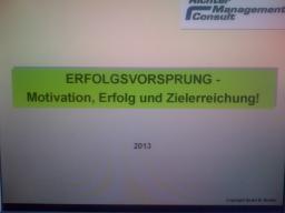 Webinar: Erfolgsvorsprung - Motivation, Erfolg und Zielerreichung!