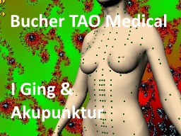 Webinar: Bucher TAO Medical - Chinesische Bio-Resonanz