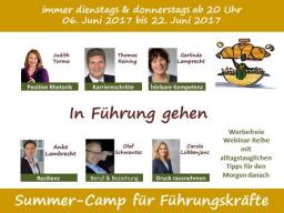 Webinar: Summer-Camp für Führungskräfte - Jetzt in Führung gehen!