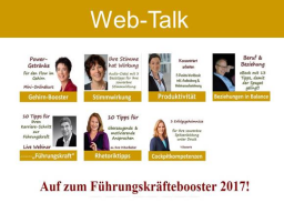 Webinar: Web-Talks  - #Führungskräftebooster17
