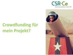 Webinar: Crowdfunding für mein Projekt?