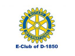 Webinar: Meeting Rotary E-Club of D-1850