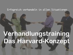 Webinar: Verhandlungstraining: Das Harvard-Konzept
