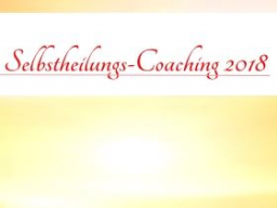 Webinar: SHT1 Selbstheilungs-Strategie