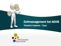 Webinar: Zeitmanagement bei ADHS