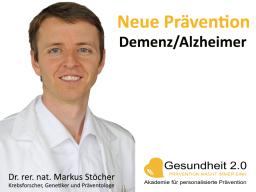 Webinar: Neue Prävention bei Demenz/Alzheimer