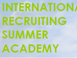 Webinar: INTERNATIONAL RECRUITING SUMMER ACADEMY - Die Basics