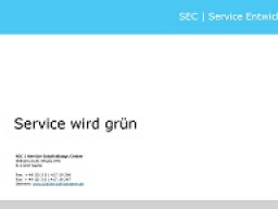 Webinar: Service wird grün