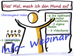 Webinar: Info-Webinar - Überzeugend reden