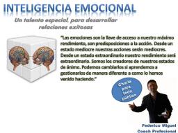 Webinar: WEBINARIO INTELIGENCIA EMOCIONAL