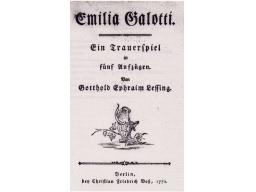 Webinar: Eine kritische Analyse zu G.E. Lessing Emilia Galotti (Deutsch, Literatur, Werke)
