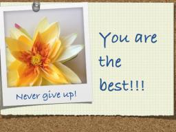 Webinar: Never give up! Gib niemals dich bitte auf!
