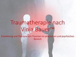 Webinar: Traumatherapie nach Vinja Bauer (TM) Block 1