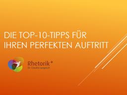 Webinar: Die Top-10-Tipps für Ihren perfekten Auftritt