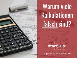Webinar: Warum viele Kalkulationen falsch sind?