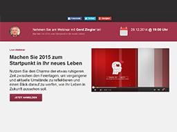 Webinar: Machen Sie 2015 zum Startpunkt in Ihr neues Leben!