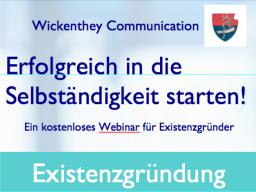 Webinar: Erfolgreich in die Selbständigkeit starten!