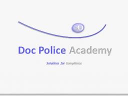Webinar: Geldwäscheseminar online der Doc Police Academy zur Methodik der Geldwäsche