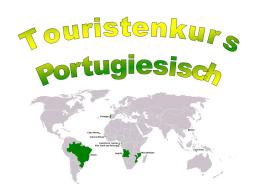 Webinar: Portugiesisch für Touristen