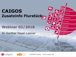 Webinar: CAIGOS-Zusatzinfo Flurstück
