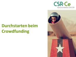 Webinar: Durchstarten beim Crowdfunding