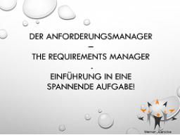 Webinar: Der Anforderungsmanager - Einblick in eine spannende Aufgabe!
