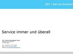 Webinar: Service immer und überall